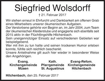 Siegfried Wolsdorff